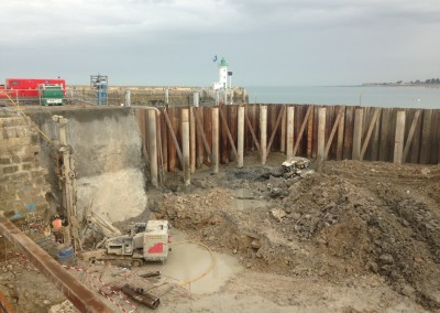 Travaux de protection des inondations à la Flotte en Ré (17)