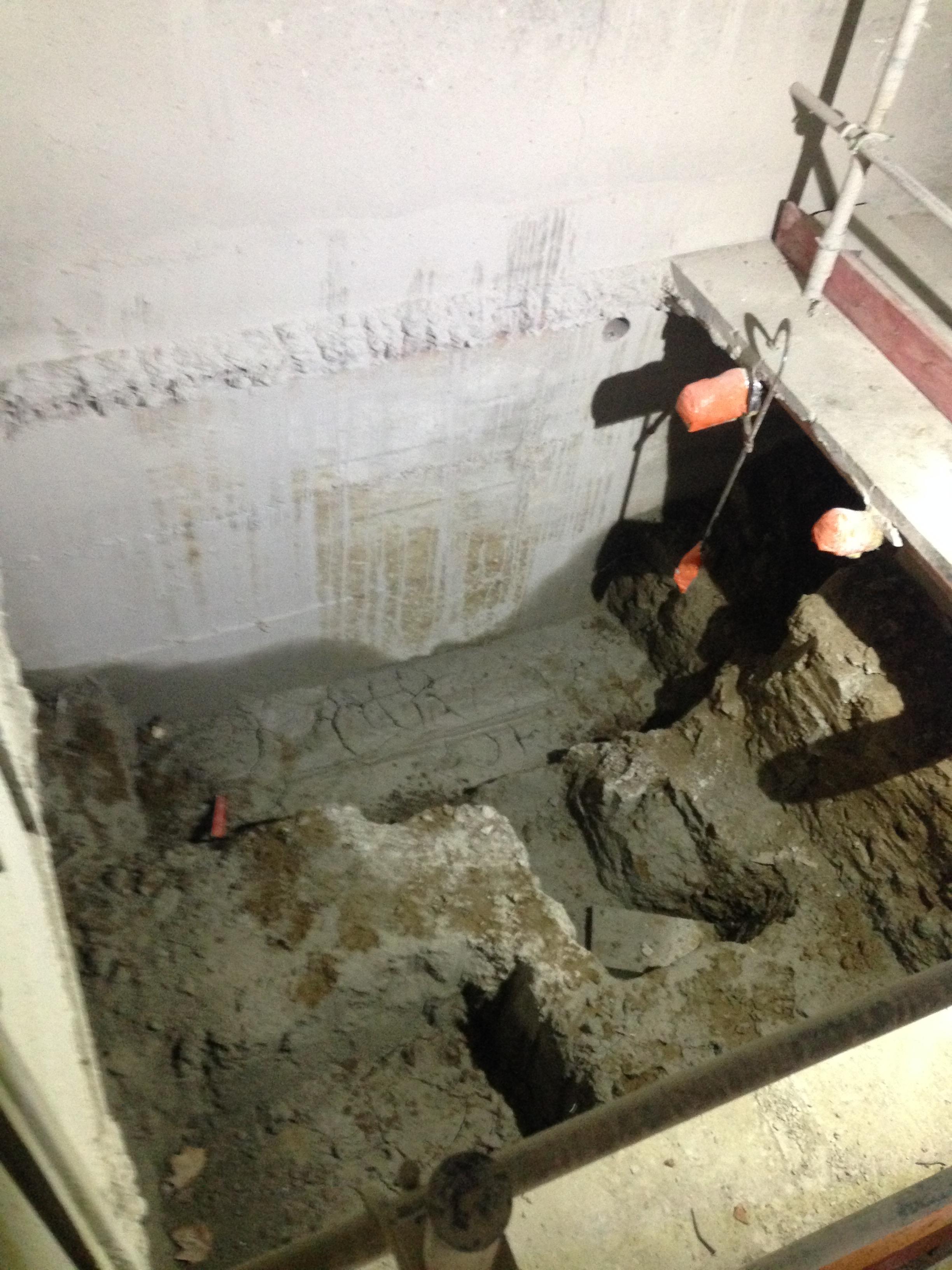 Travaux fond de fosse et micropieux pour cage d'ascenceur