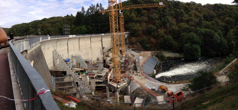 Travaux d'entretien du barrage du Mervent temsol