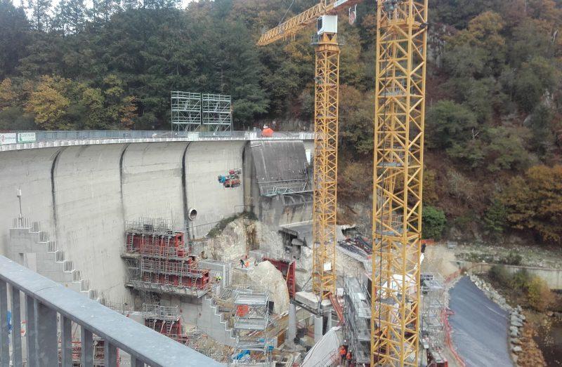 Travaux entretien barrage Mervent temsol