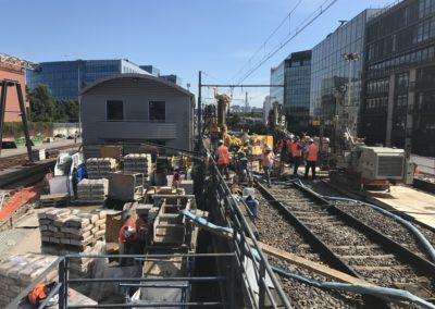 Travaux de Micro-Berlinoise pour le compte de la SNCF à Issy les Moulineaux (92)