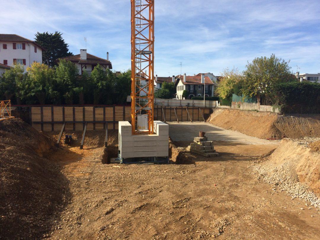 TEMSOL réalise les soutènements provisoires du chantier Baiona Bihotza à Bayonne (64)