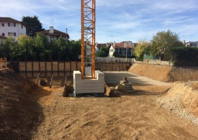Soutènements provisoires du chantier Baiona Bihotza à Bayonne (64)