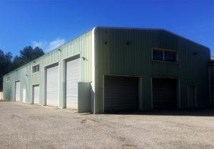 Entrepôt hangar de la nouvelle agence TEMSOL de Saint-Cannat.