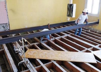 Un plancher en bois renforcé par Temsol